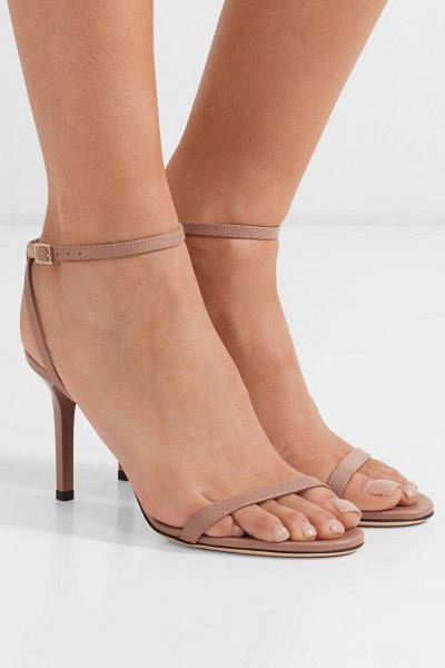 Jimmy Choo minny 85 leather sandals in neutral