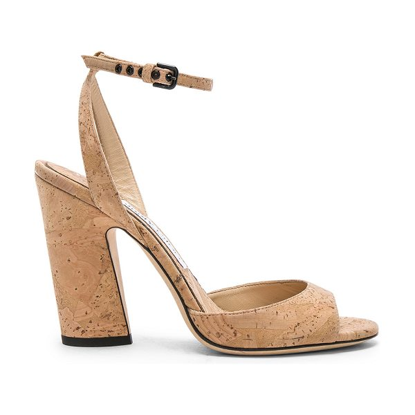 JIMMY CHOO Miranda 100 Cork Sandal - Cork upper with leather sole.  Made in Italy.  Approx...