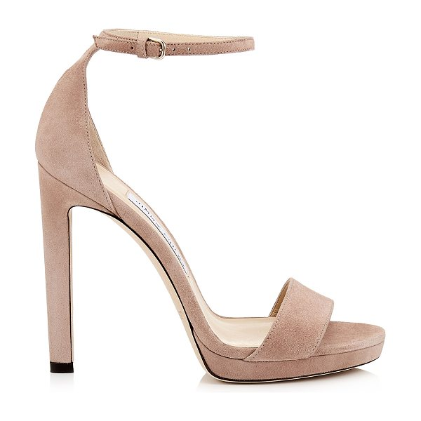 Jimmy Choo MISTY 120 Ballet Pink Platform Sandals in ballet pink