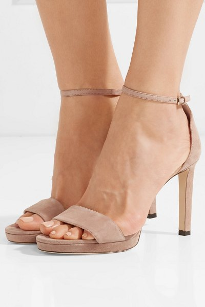 17c213a83a48 Jimmy Choo misty 120 suede sandals in sand - If there s one pair of shoes  every