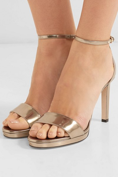 Choo Metallic 100 Sandals Jimmy Nudevotion Leather Misty zdqBxB6