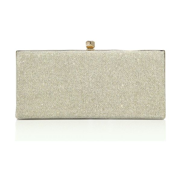 Jimmy Choo celeste oversized lame glitter clutch in gold - Shimmering evening clutch in an oversized silhouette....