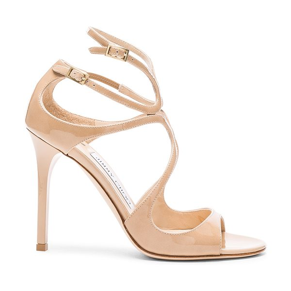 Jimmy Choo Lang 100 Patent Heels in neutrals - Patent leather upper with leather sole.  Made in Italy. ...