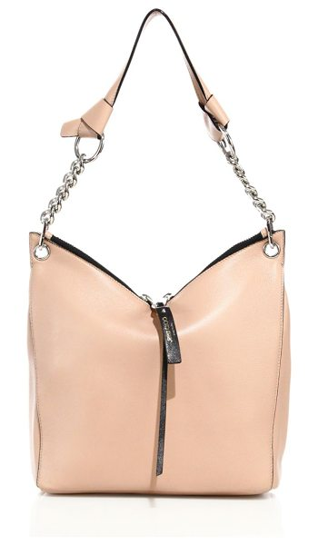 Jimmy Choo raven small leather shoulder bag in ballet pink - Understated yet elegant shoulder design with gleaming...