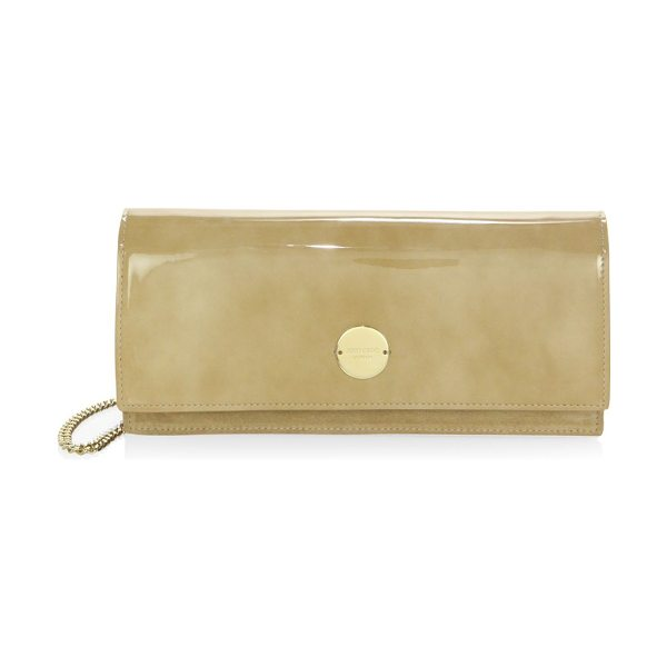 Jimmy Choo raw edge clutch in nude - Chic clutch in a clean and modern raw edge finish....