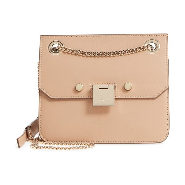 Jimmy Choo mini rebel leather crossbody bag in nude/ cedar mix - Monochromatic coloring brings chic versatility to a...