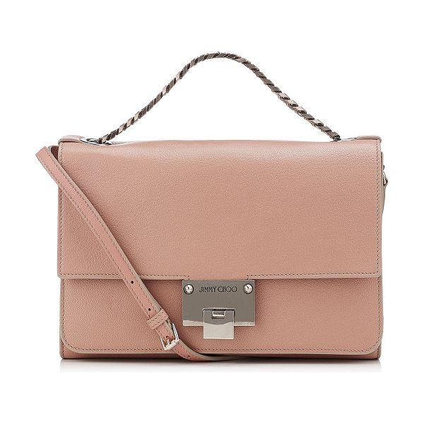 Jimmy Choo REBEL SOFT/S Ballet Pink Soft Grained Leather Messenger Bag - A versatile, modern style with a sleek silhouette, this...