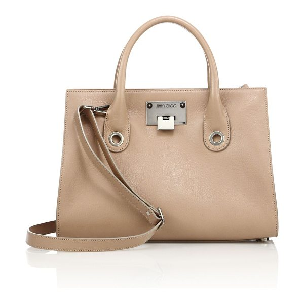 JIMMY CHOO riley leather tote - Structured shape rendered in polished grained leather....