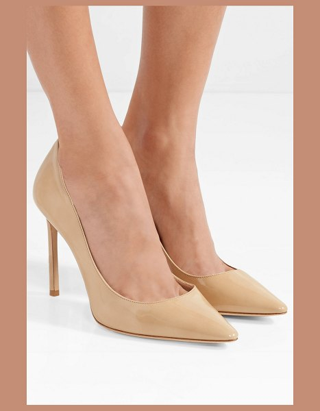 Jimmy Choo romy 100 patent-leather pumps in sand