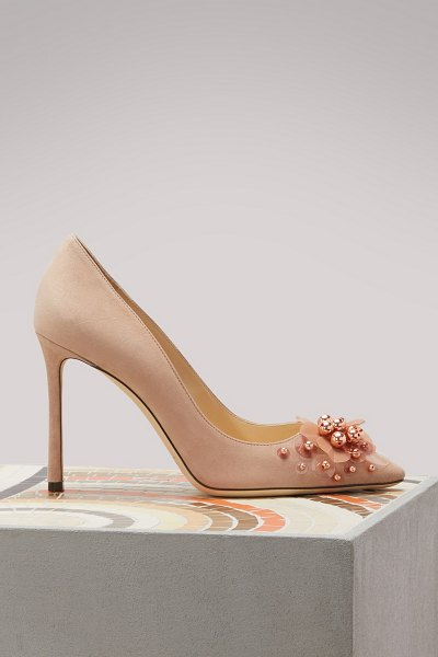 Jimmy Choo Romy 100 pumps in pink - These Jimmy Choo Romy 100 pumps rely on refined lines....