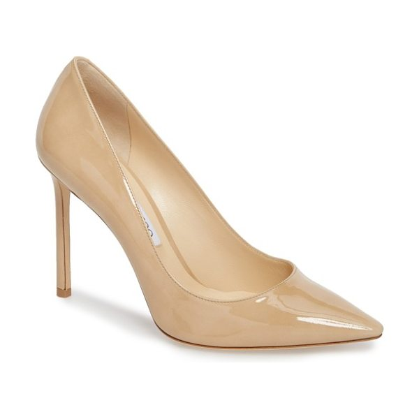 Jimmy Choo romy pointed toe pump in beige