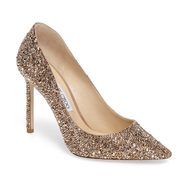 Jimmy Choo jimmy choo crystal romy pump in nude mix - Capture the glamour of the evening in a statement...