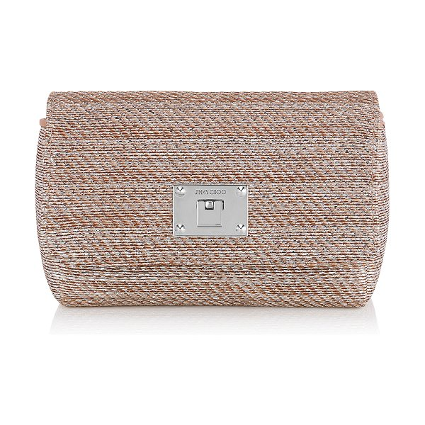 Jimmy Choo Ruby l champagne metallic woven lamé fabric mini bag in champagne - A compact mini bag that can be carried neatly in your...