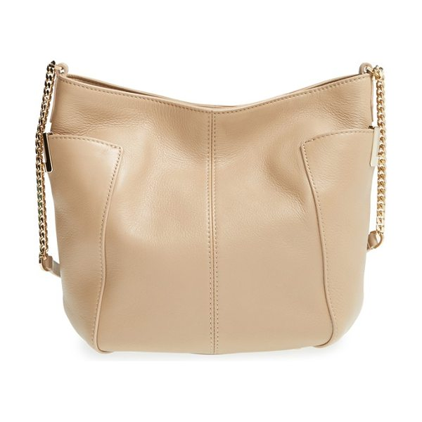 Jimmy Choo Small anabel leather crossbody bag in nude