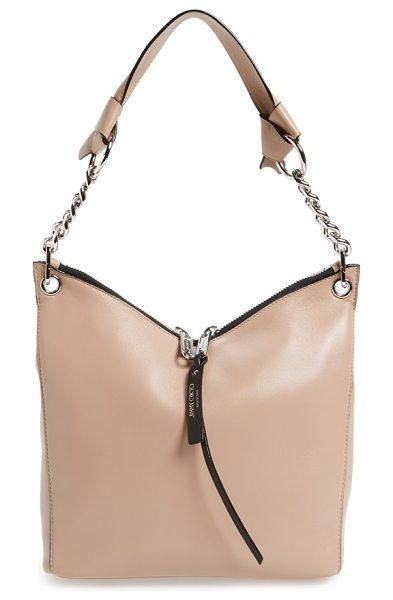 JIMMY CHOO 'small raven' nappa leather shoulder bag - A new style for the season, this modern look from Jimmy...