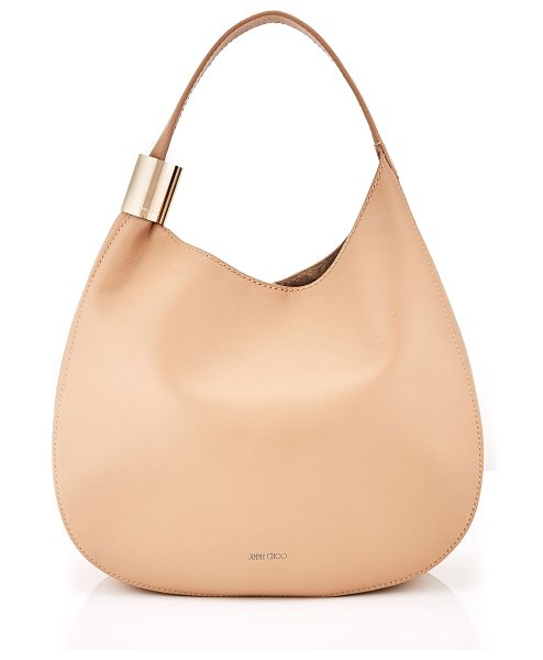 Jimmy Choo STEVIE Nude Nappa Leather Shoulder Bag in nude - The Stevie slouchy shoulder bag in nude nappa leather is...