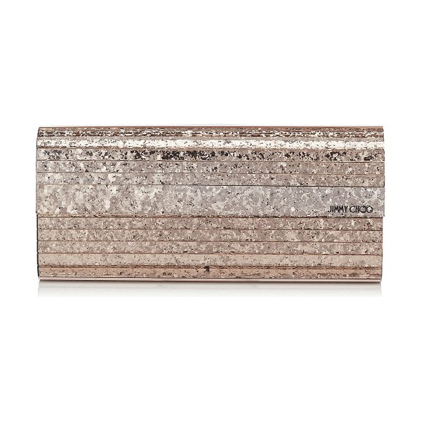 JIMMY CHOO SWEETIE Ballet Pink Shadow Coarse Glitter Acrylic Clutch Bag - Chic, sophisticated and easy to wear, the Sweetie clutch...