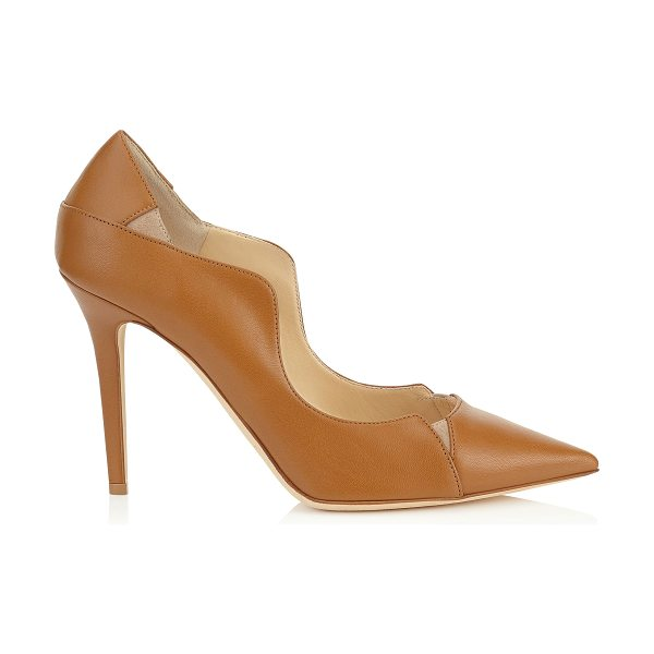 JIMMY CHOO Tamika 100 canyon kid leather and nude suede pointy toe pumps - A striking update on the classic pointy toe pump. With a...
