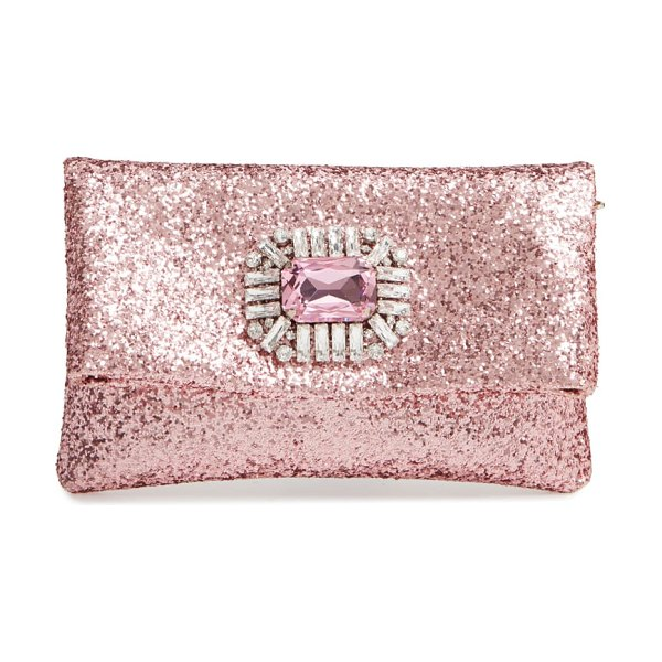 Jimmy Choo titania galactica glitter clutch in pink - If you need something a little fancier for formal...