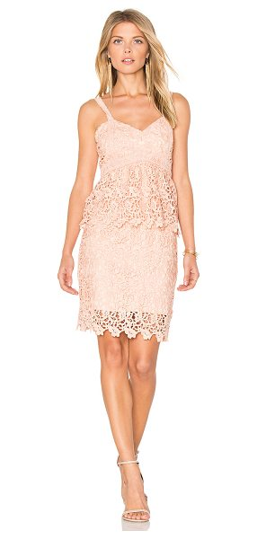 J.O.A. Crochet Dress in pink - Self & Lining: 100% poly. Dry clean only. Fully lined....