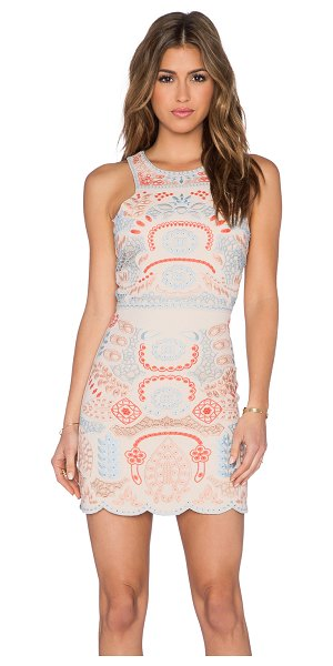 J.O.A. Embroidery sleeveless dress - Poly blend. Hand wash cold. Fully lined. Embroidered...