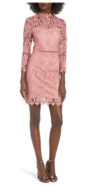J.O.A. lace sheath dress in pink - Soft and romantic, this lace dress also has a sassy side...