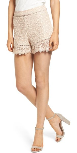 J.O.A. lace shorts in blush - There's no such thing as too sweet, and these lace...