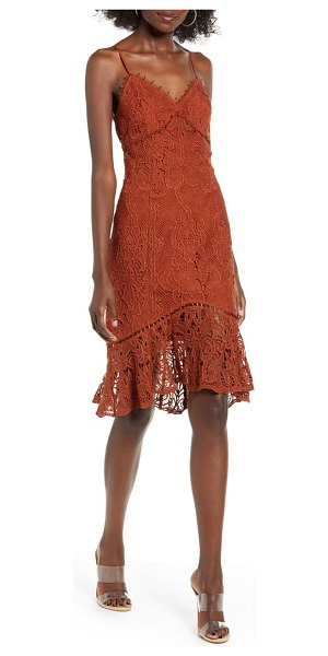 J.O.A. lace slipdress in brown
