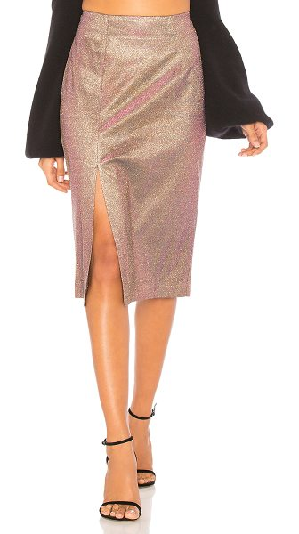"J.O.A. Metallic Pencil Skirt - ""Self: 60% poly 40% metallicLining: 97% poly 3%..."