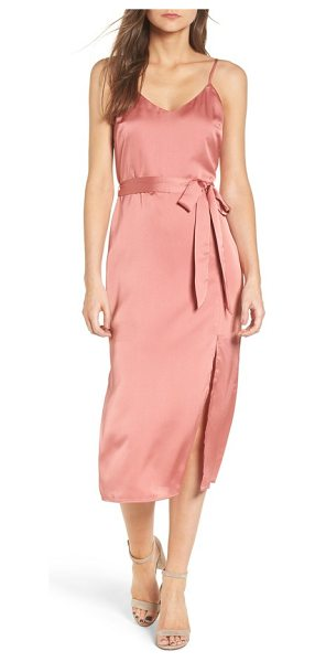 J.O.A. midi slipdress in rosewood pink - A slipdress transitions easily from season to season...