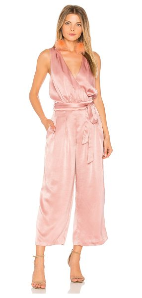 "J.O.A. Peekaboo Detail Slip Jumpsuit - ""Poly blend. Hand wash cold. Surplice neckline. Belted..."