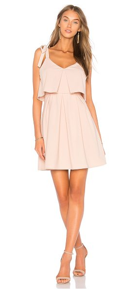 J.O.A. Ribbon Tie Flare Dress in rose - Self & Lining: 100% poly. Fully lined. Shoulder tie...