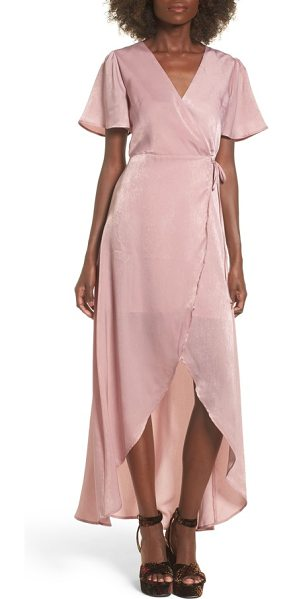 J.O.A. wrap maxi dress in ballet pink - This maxi dress is simply stunning with its wrap...