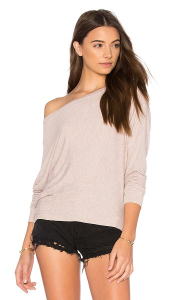 JOAH BROWN Vital Long Sleeve Tee in oatmeal rib - Cotton blend. Rib knit fabric. JOAR-WS15. 262LST. Since...
