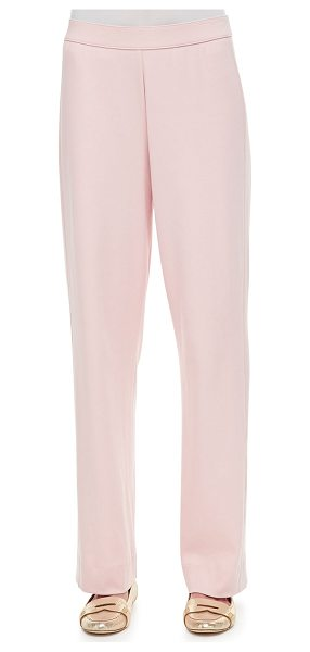 "Joan Vass Full-Length Jog Pants in pink - Joan Vass jersey pants. Approx. measurements: 30 1/2""..."