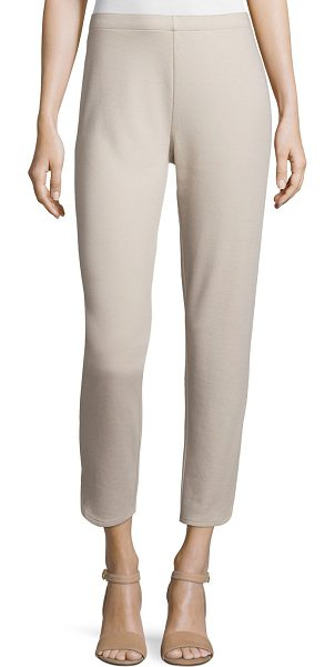 "Joan Vass Ponte Ankle Pants in taupe - Joan Vass ponte ankle pants. Approx. measurements: 39""L..."
