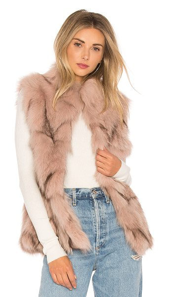 JOCELYN Fox Fur Sections Vest With Collar - Fur: 100% real dyed fox furLining: 100% poly....