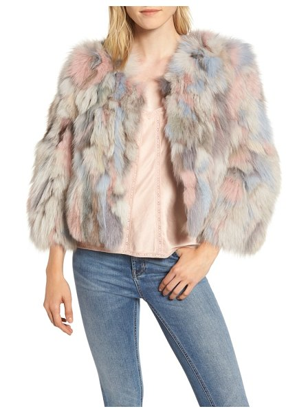 Jocelyn genuine fox fur bolero in beige - Add a bit of instant drama (and incredible warmth) to...