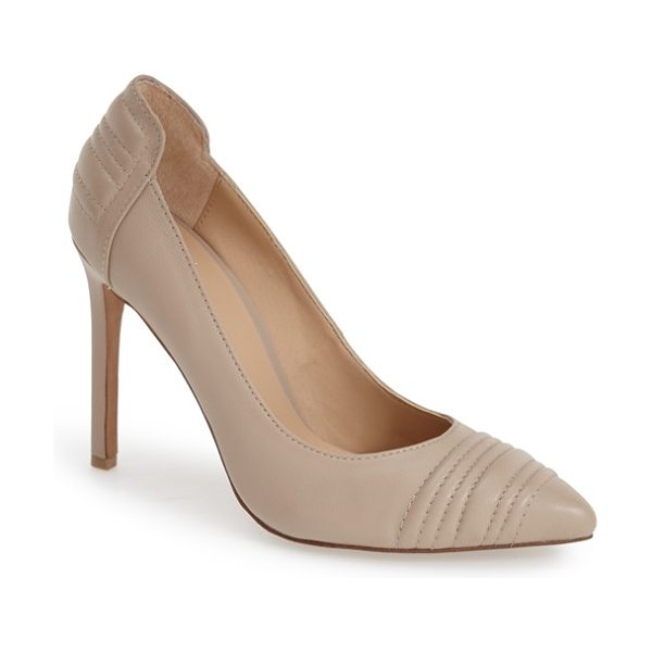 Joe's gong pointy toe pump in bone