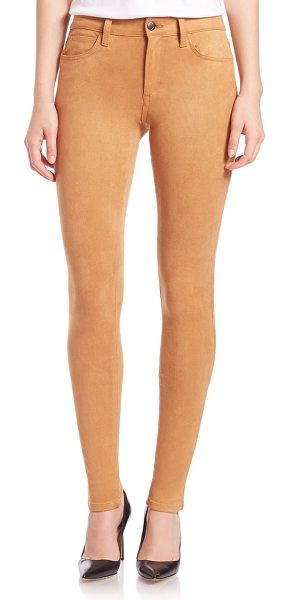 JOE'S Icon faux suede ankle skinny jeans in camel - Meticulously crafted in faux suede, this five-pocket...