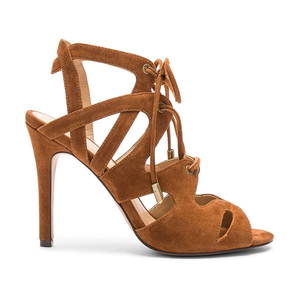 Joe's Jeans Calven Heel in cognac - Suede upper with man made sole. Lace-up front with tie...