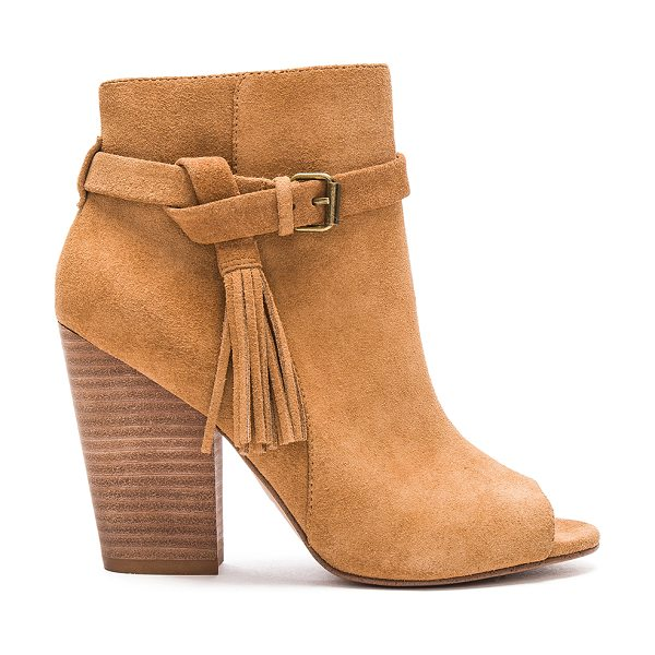 Joe's Jeans Celina Bootie in tan - Suede upper with man made sole. Side zip closure....