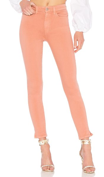 """Joe's Jeans The Charlie Ankle in blush - """"62% cotton 31% rayon 5.5% elasterell 1.5% elastane. Dry..."""