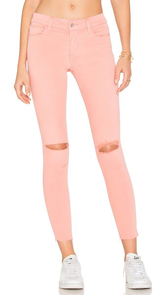 Joe's Jeans The Icon Mid Rise Super Skinny in coral - 92% cotton 8% T400 2% elastane. Front and back pockets....