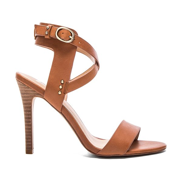 Joe's Jeans Tilly Heel in cognac - Leather upper with man made sole. Ankle strap with...