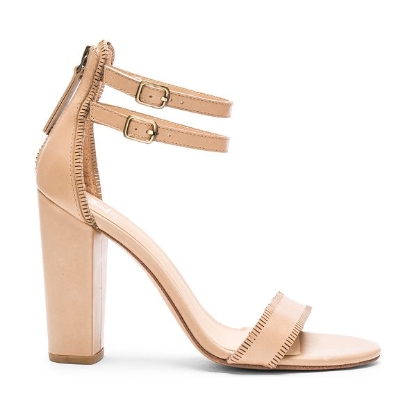 Joe's Jeans Vader Heel in beige - Leather upper with man made sole. Double ankle straps...