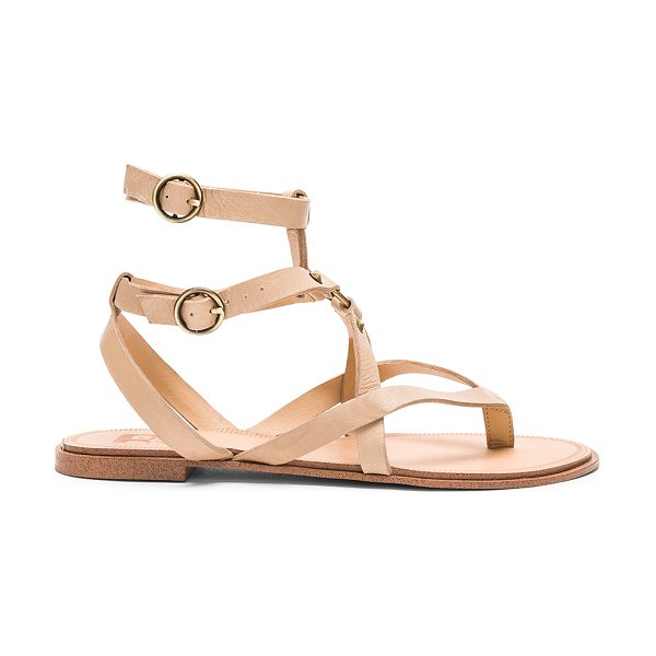 Joe's Jeans Victor Sandal in taupe - Leather upper with man made sole. Ankle straps with...