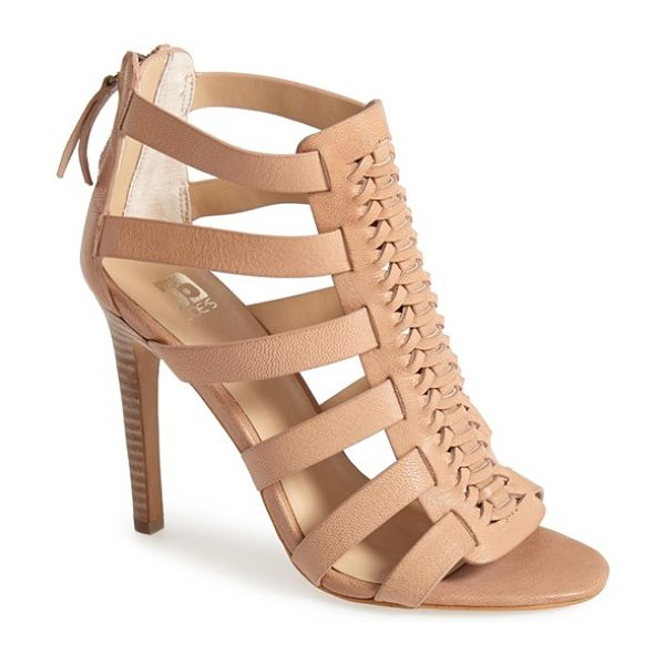 Joe's pearce leather sandal in nude leather - A woven front panel adds a hint of retro attitude to a...
