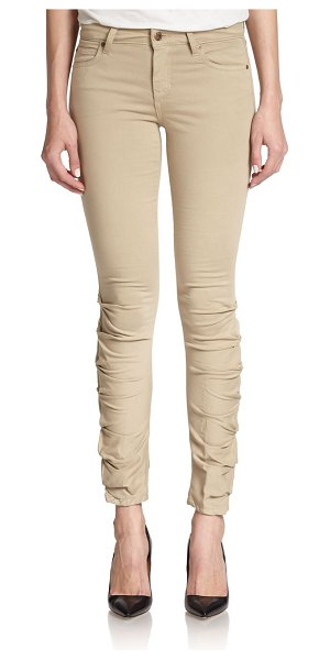 Joe's Sooo soft ruched skinny jeans in tan - Crafted in an ultra-soft, Italian cotton blend, this...