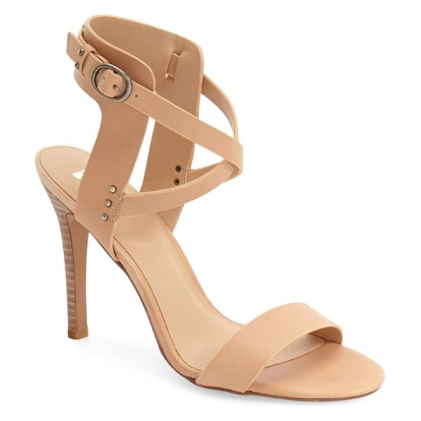 JOE'S tilly ankle strap sandal in nude leather - Polished goldtone studs and crossover ankle straps...